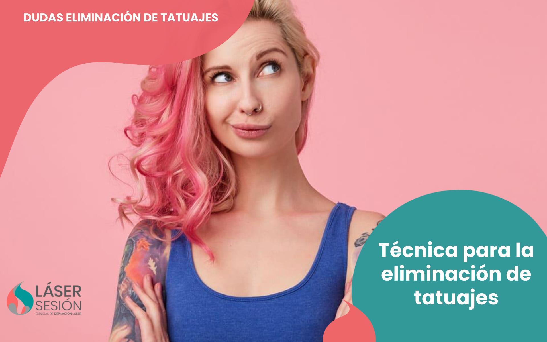 Técnica para la eliminación de tatuajes